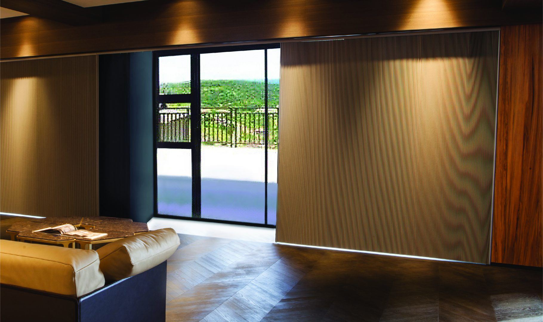 Vertical cellular shades for specially shaped windows and patio doors