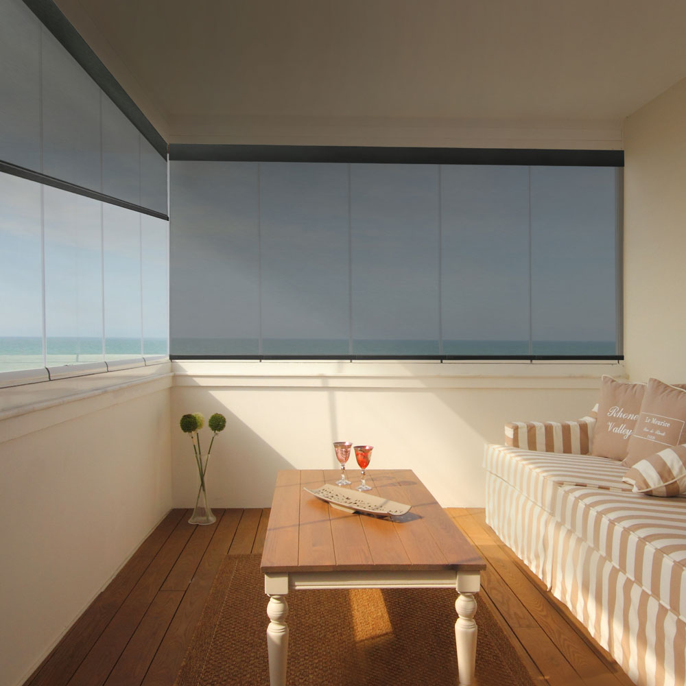 Veneta™ roller shades with solar fabric
