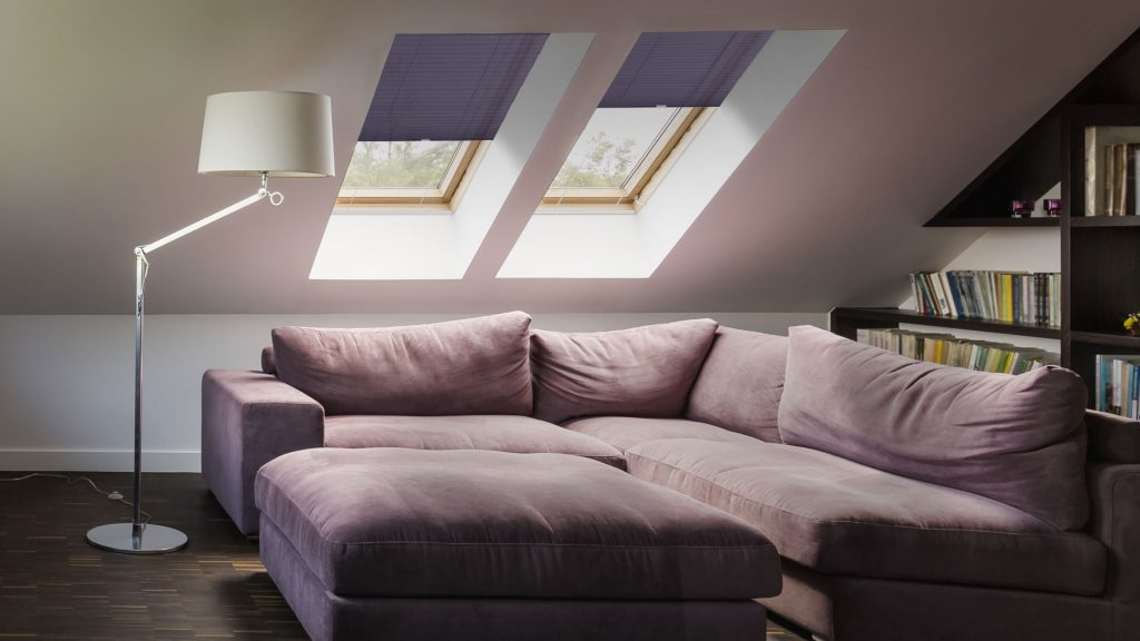 ClearFit™ shades secure perfectly into skylight windows