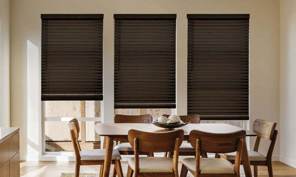 Faux Wood Blinds with SmartPrivacy