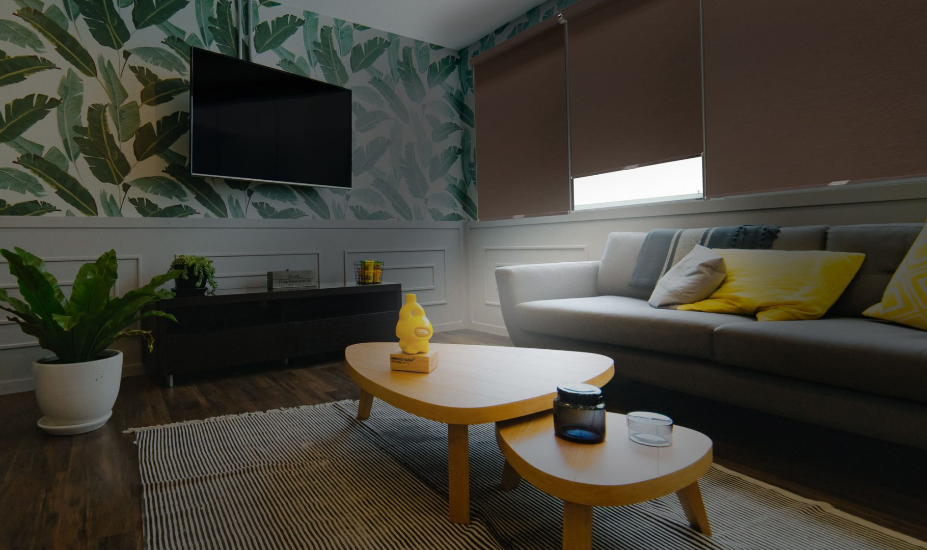 Blackout fabrics make sure shades keep a room dark and protect your privacy.
