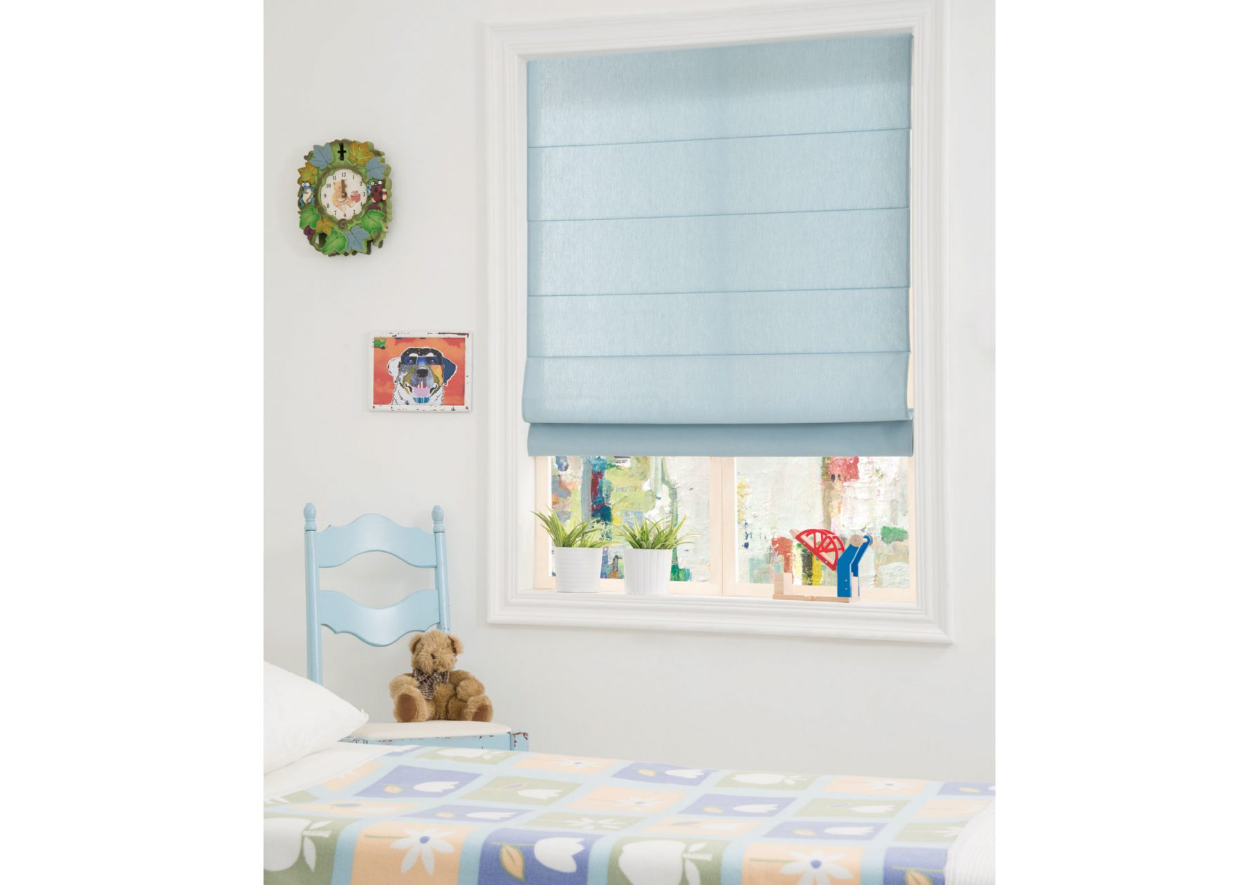 Roman Shades for rooms with kids and pets