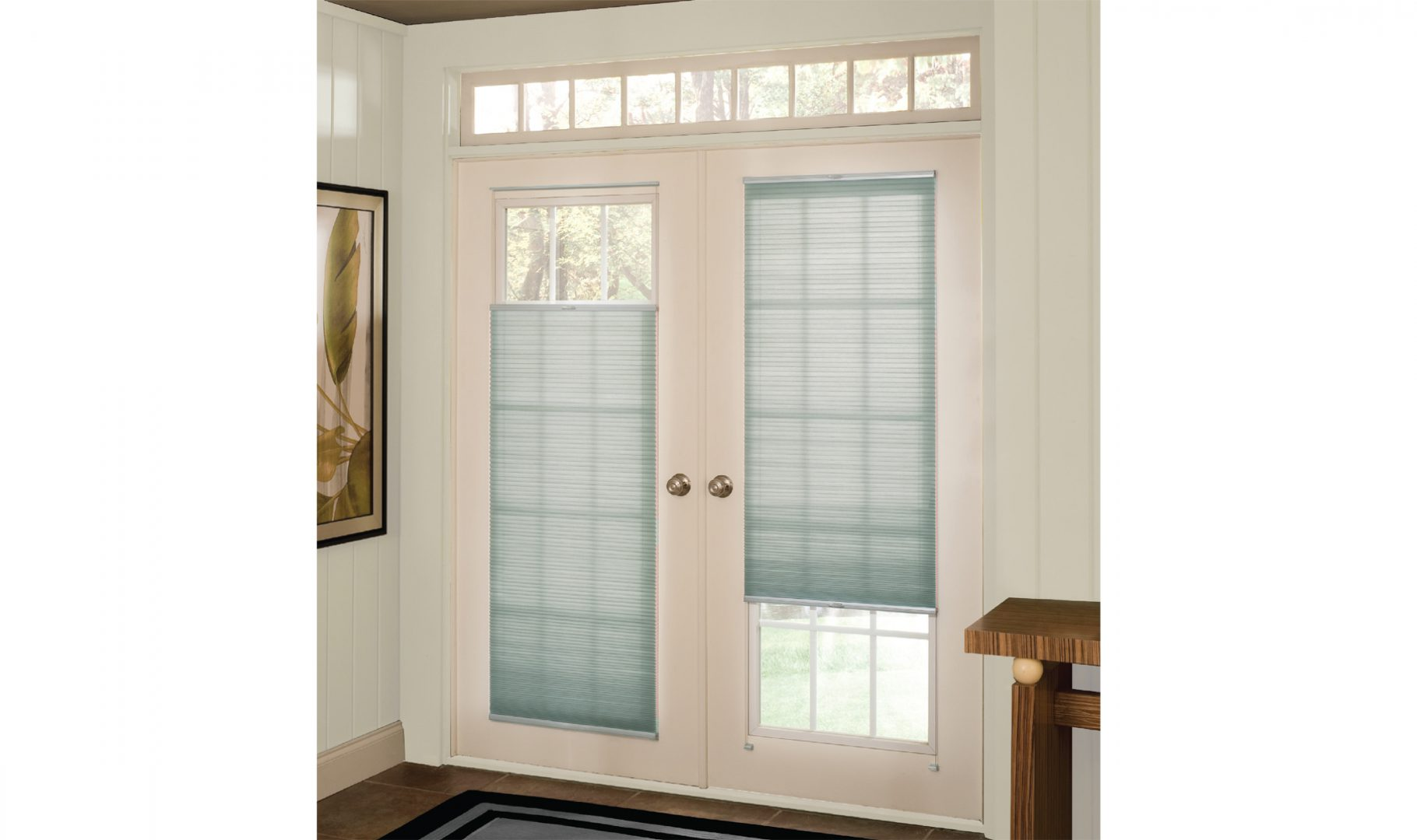 ClearFit™ cellular shades for doors