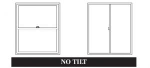 Window Type, No Tilt In