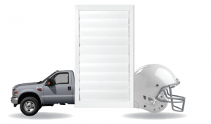 Veneta Shutters have a durable surface coating, the same kind used to protect helmets and cars.