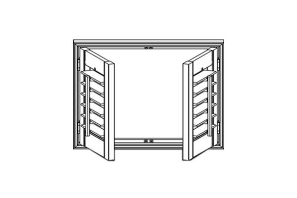 Shutter Panel Configuration - 2 Panels
