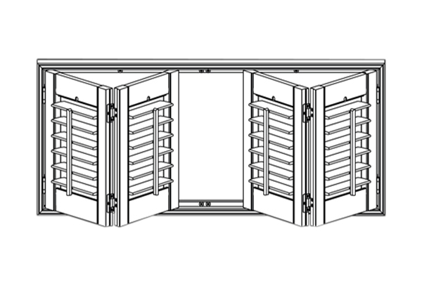 Shutter Panel Configuration - 4 Bifold Panels