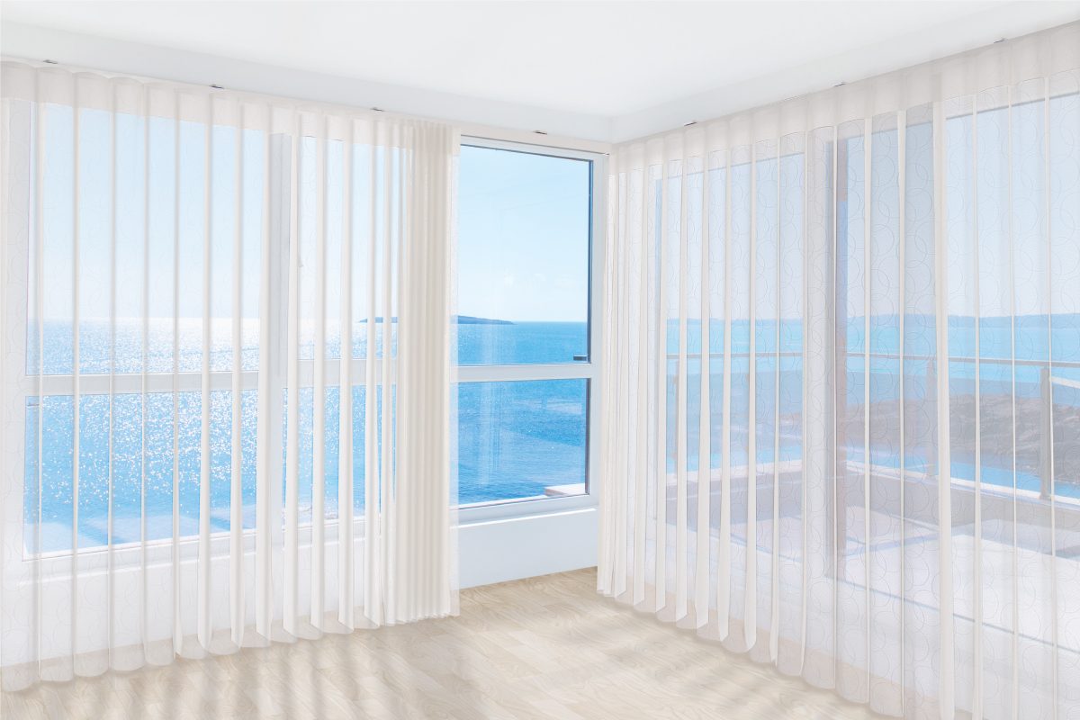 DualDrape is perfect for large windows and patio doors.