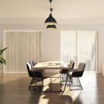 Veneta vertical blinds both open and closed