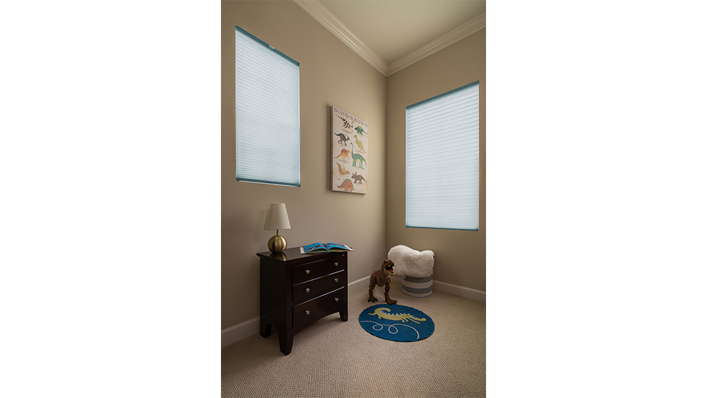 Cellular shades, cordless option for a child's room
